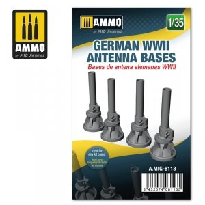 Ammo of Mig 8113 German WWII Antenna Bases 1/35