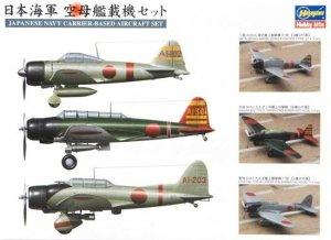 Hasegawa QG30 (72130) Akagi Aircraft Japanese Navy Carrier-Based Aircraft Set 1/350
