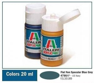 Italeri 4766 FLAT NON SPECULAR BLUE GREY 20ml