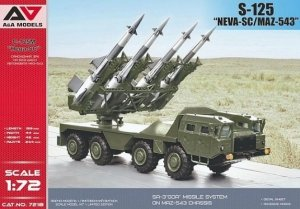 A&A Models 7218 S-125 Neva-SC on MAZ-543 1/72