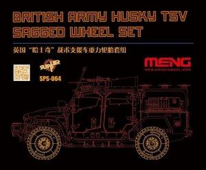 Meng Model SPS-064 British Army Husky TSV Sagged Wheel Set 1/35