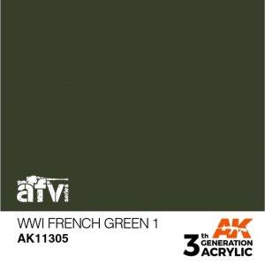 AK-Interactive AK 11305 WWI French Green 1 17ml