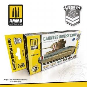 AMMO of Mig Jimenez 7181 CAUNTER BRITISH CAMO SET 6x17ml