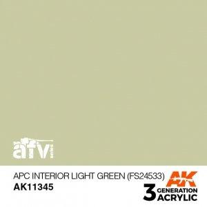 AK-Interactive AK 11345 APC Interior Light Green (FS24533) 17ml