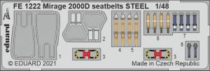 Eduard FE1222 Mirage 2000D seatbelts STEEL KINETIC 1/48