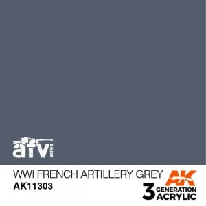 AK-Interactive AK 11303 WWI French Artillery Grey 17ml