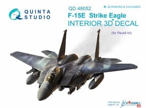 Quinta Studio QD48052 F-15E 3D-Printed & coloured Interior on decal paper (for Revell kit) 1/48