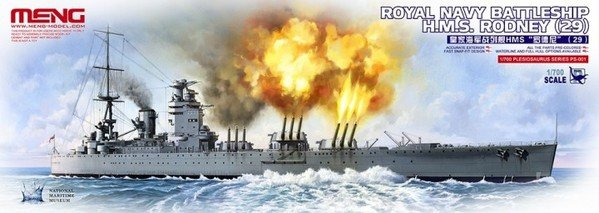 Meng Model PS-001 ROYAL NAVY BATTLESHIP H.M.S. RODNEY (29) 1/700