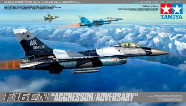 Tamiya 61106 F-16C/N AGGRESSOR/ADVERSARY (1:48)