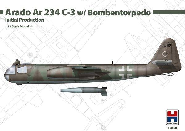 Hobby 2000 72050 Arado Ar 234 C-3 w/ Bombentorpedo Initial Production - Dragon 1/72