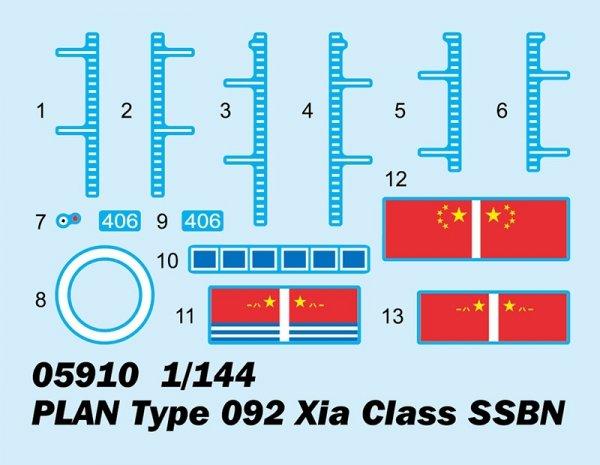 Trumpeter 05910 PLAN Type 092 Xia Class SSBN 1/144