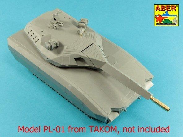 Aber 35L-299 Lufa 105mm do polskiego koncepcyjnego czołgu PL-01 (Takom) 1/35