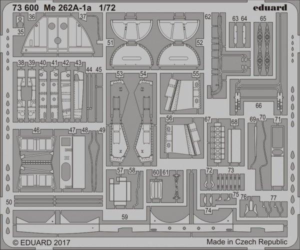 Eduard 73600 Me 262A-1a 1/72 AIRFIX