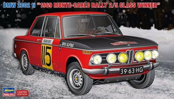 """Hasegawa 20420 BMW 2002ti """"1969 Monte-Carlo Rally 2/5 Class Winner"""" 1/24"""