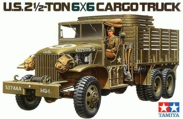 Tamiya 35218 U.S. 2 -Ton 6x6 Cargo Truck (1:35)