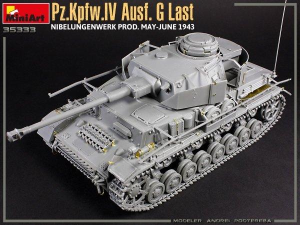 MiniArt 35333 Pz.Kpfw.IV Ausf. G Last/Ausf. H Early. NIBELUNGENWERK PROD. MAY-JUNE 1943. 2 IN 1 INTERIOR KIT 1/35