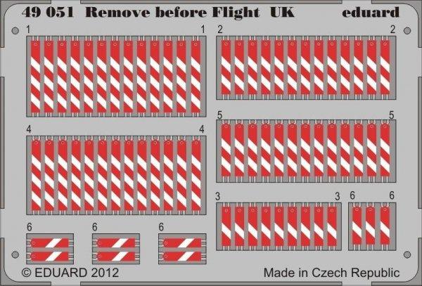 Eduard 49051 Remove before flight UK 1/48