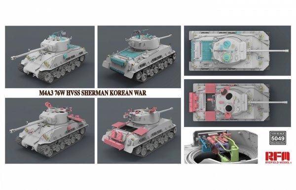 Rye Field Model 5049 M4A3 76W HVSS Sherman Korean War 1/35