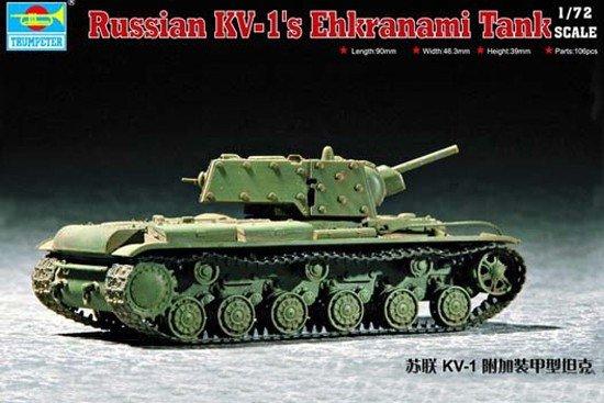 Trumpeter 07230 Soviet KV-1S Ehkranami (1:72)