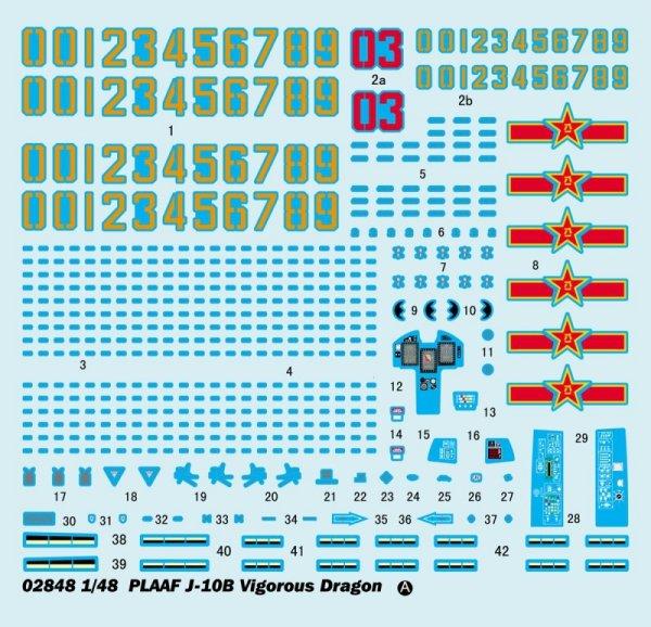 Trumpeter 02848 PLAAF J-10B Vigorous Dragon (1:48)