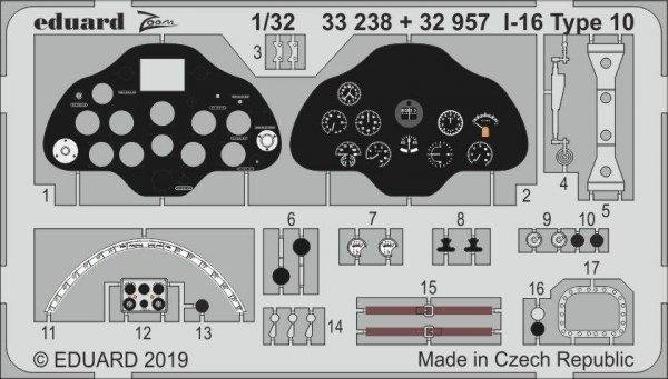 Eduard BIG33109 I-16 Type 10 1/32 ICM