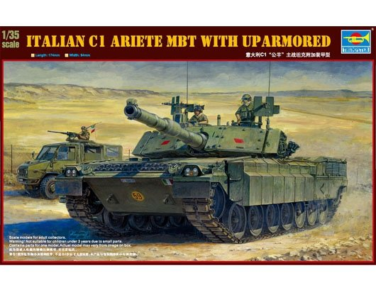 Trumpeter 00394 Italian C1 Ariete MBT with uparmored (1:35)