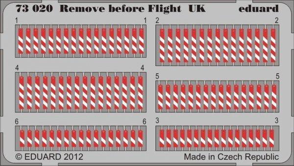 Eduard 73020 Remove before flight UK 1/72