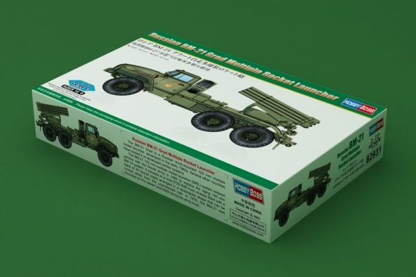 Hobby Boss 82931 Russian BM-21 Grad Multiple Rocket Launcher 1/72
