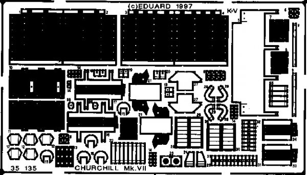 Eduard 35135 Churchill Mk. VII 1/35 Tamiya