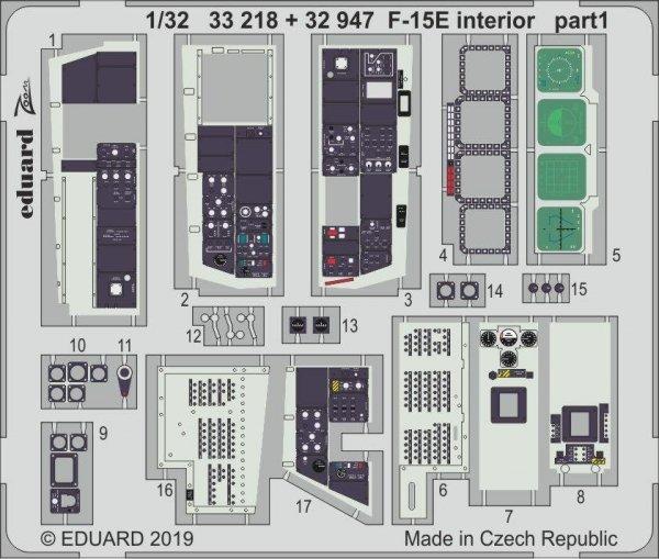 Eduard 33218 F-15E interior 1/32 TAMIYA