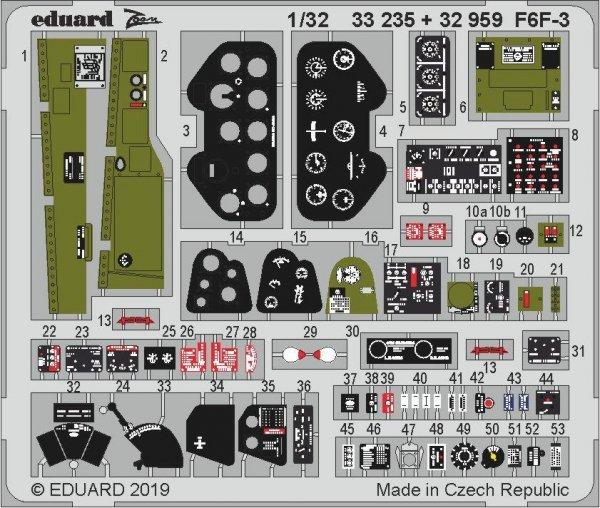 Eduard 33235 F6F-3 1/32 TRUMPETER