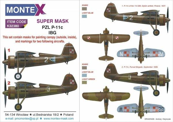 Montex K32380 PZL P.11c IBG 1/24
