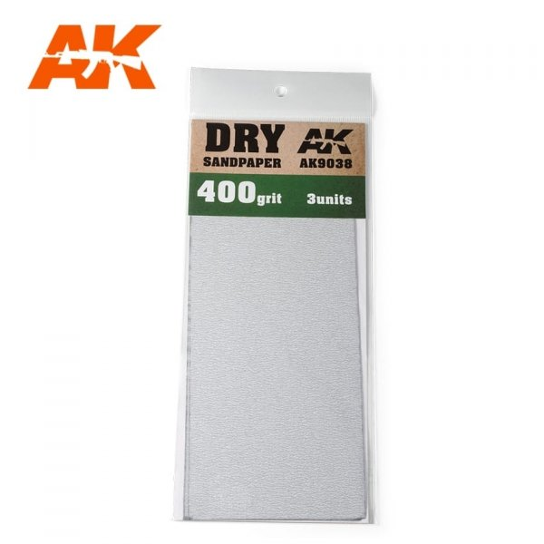 AK Interactive AK 9038 DRY SANDPAPER 400