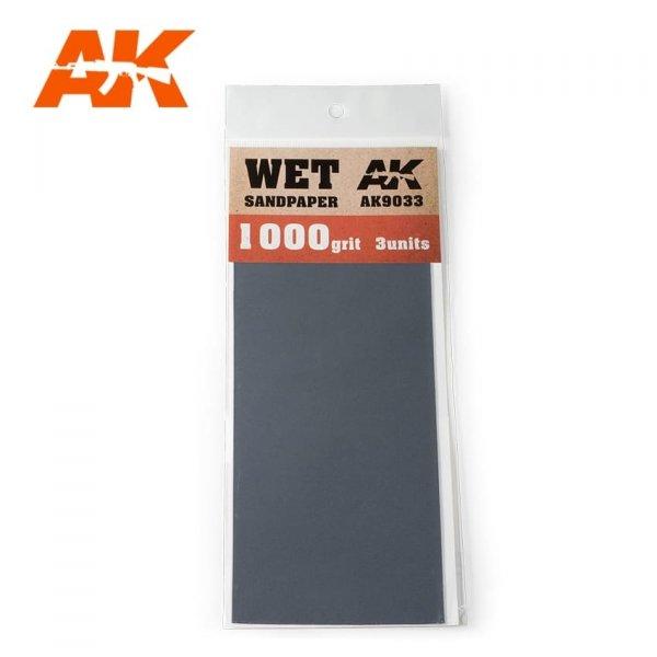 AK Interactive AK 9033 WET SANDPAPER 1000