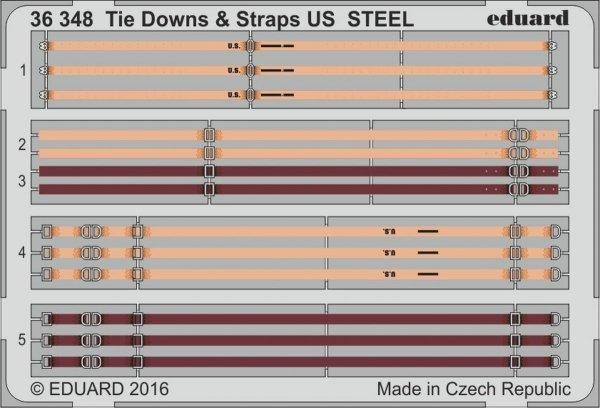 Eduard 36348 Tie Downs & Straps US STEEL 1/35