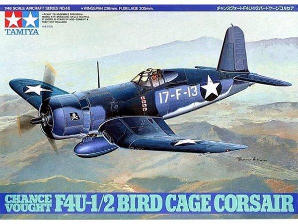 Tamiya 61046 Chance Vought F4U-1/2 Bird Cage Corsair (1:48)