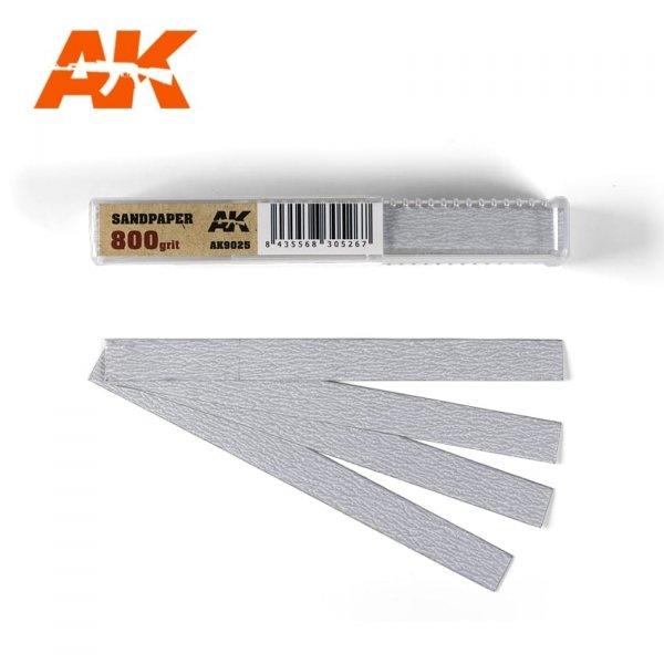 AK Interactive AK 9025 SANDPAPER GRAIN 800 (DRY)