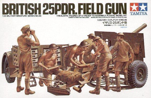 Tamiya 35046 British 25 pound Field Gun (1:35)