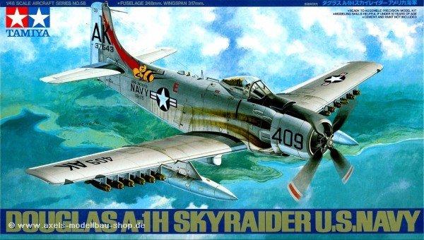 Tamiya 61058 Douglas A-1H Skyraider U.S. Navy (1:48)