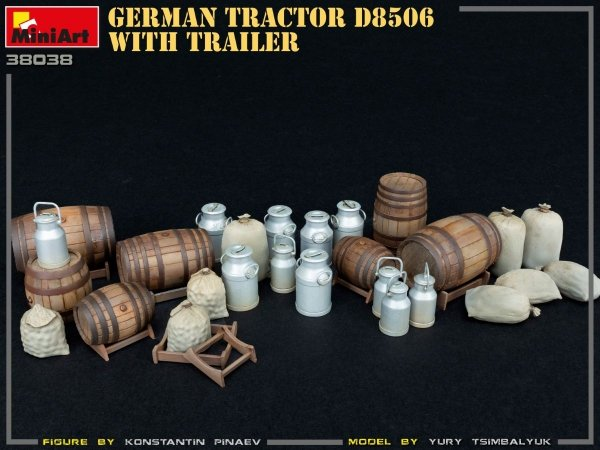 MiniArt 38038 German Tractor D8506 with trailer 1/35