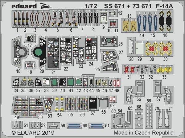 Eduard SS671 F-14A 1/72 HOBBY BOSS