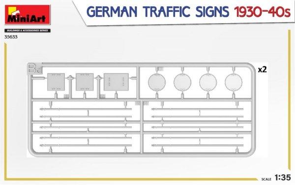 MiniArt 35633 GERMAN TRAFFIC SIGNS 1930-40s 1/35