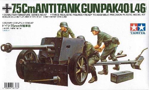Tamiya 35047 German 75mm Anti-Tank Gun (1:35)