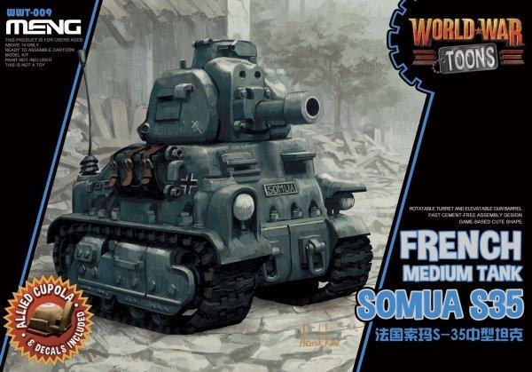 Meng Model WWT-009 World War Toons Somua S35