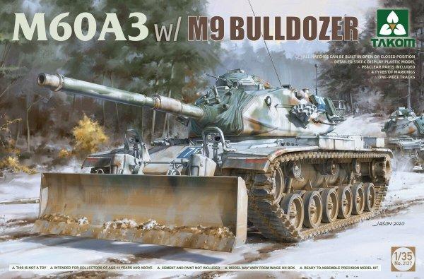 Takom 2137 M60A3 w/M9 Bulldozer 1/35