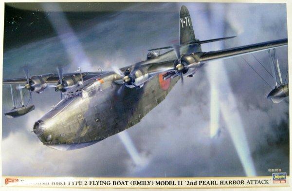 "Hasegawa 02311 Kawanishi H8K1 Type 2 Flying Boat (Emily) model 11 ""2nd Pearl Harbor attack"" 1/72"