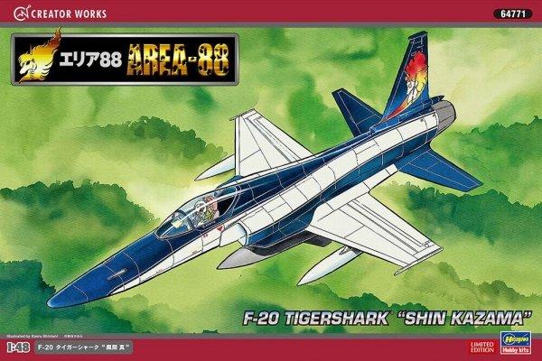 "Hasegawa 64771 Area-88 F-20 Tigershark ""Shin Kazama"" 1/48"