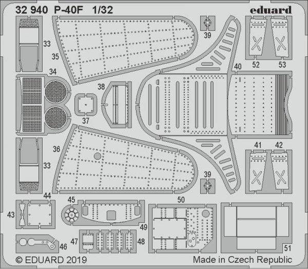 Eduard BIG3398 P-40F 1/32 TRUMPETER