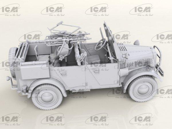 ICM 35584 le.gl.Einheits-Pkw Kfz.4 WWII German Light Anti-Aircraft Vehicle 1/35