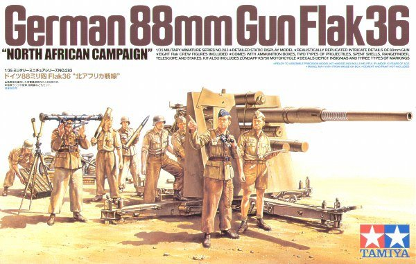 "Tamiya 35283 German 88mm Gun Flak36 ""North African Campaign"" (1:35)"